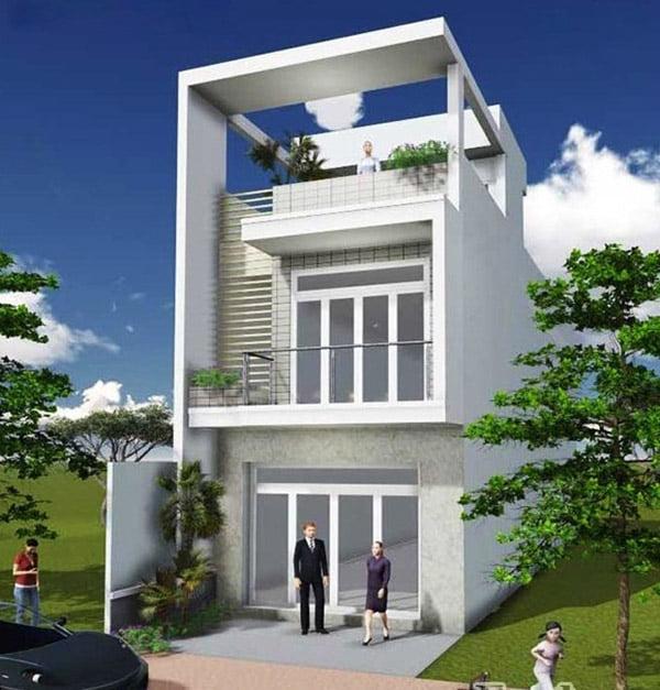 các mẫu nhà đẹp 2 tầng 1 tum phù hợp cho mọi gia đình 5
