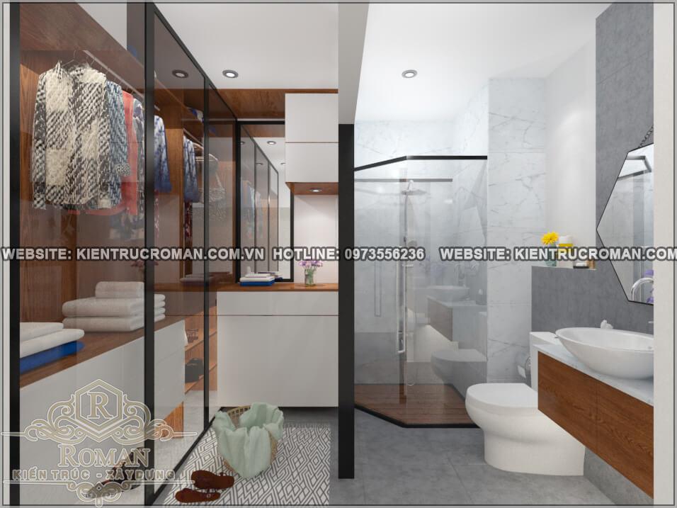 phòng tắm mẫu nhà đẹp 4x18 sang trọng tại quận 8