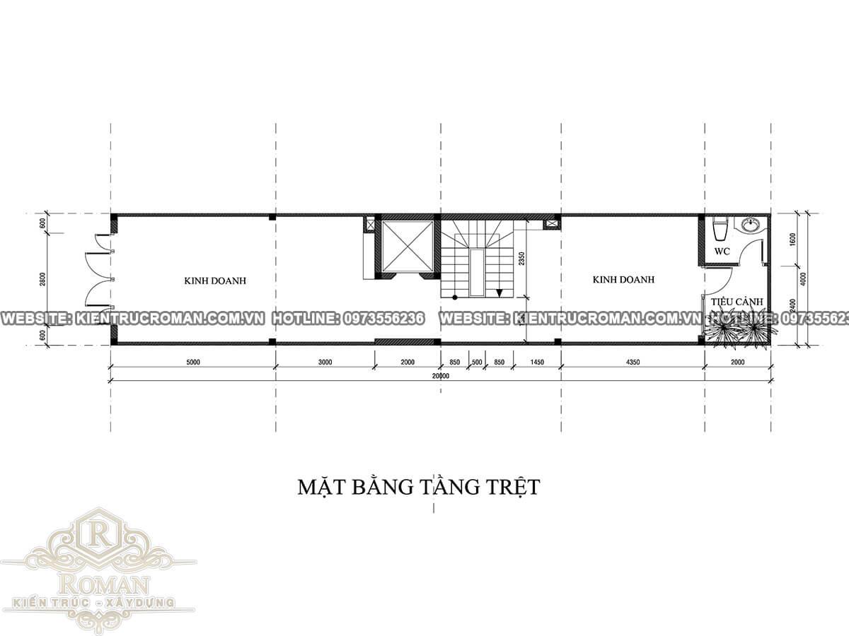 mặt bằng tầng trệt mẫu nhà đẹp 4 x 18 sạng trọng tại quận 8
