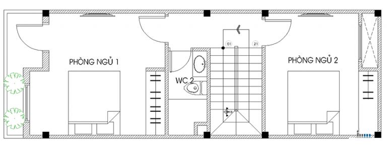 mẫu nhà đẹp 4x18 2 tầng 3 tầng hiện đại nhất hiện nay 12