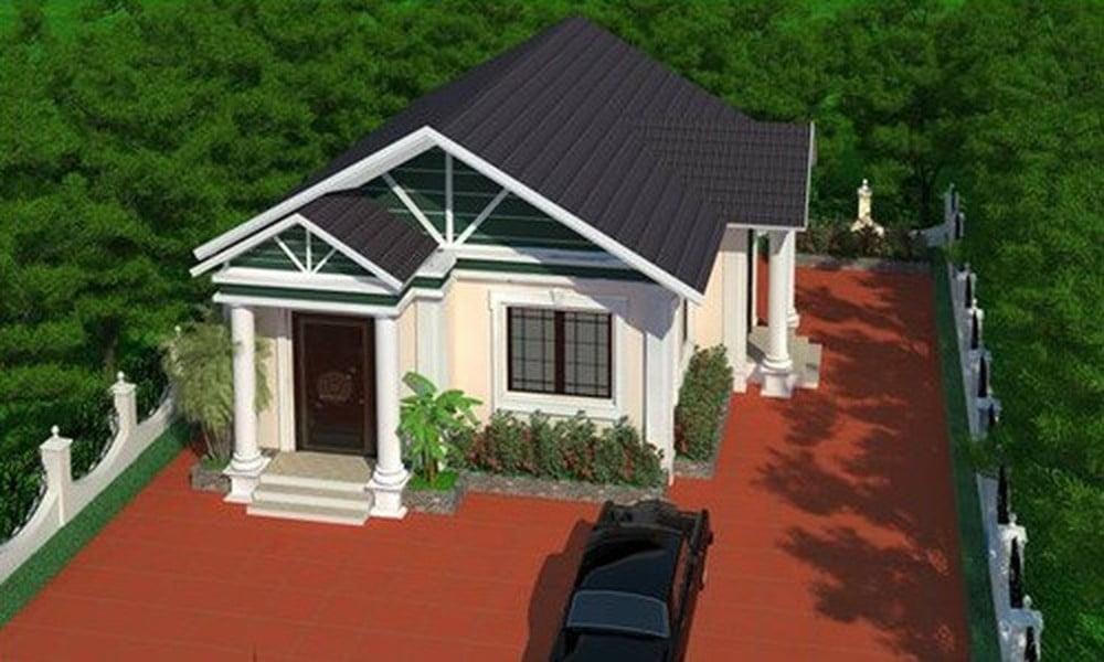 mẫu nhà mái thái 1 tầng đẹp 12