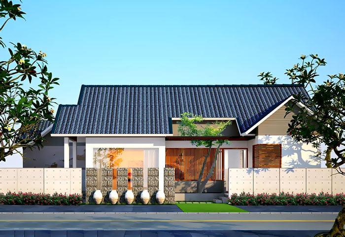mẫu nhà mái thái 1 tầng đẹp 15