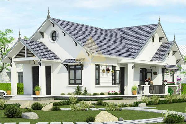 mẫu nhà mái thái 1 tầng đẹp 4