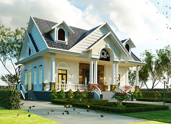 mẫu nhà mái thái 1 tầng đẹp 5