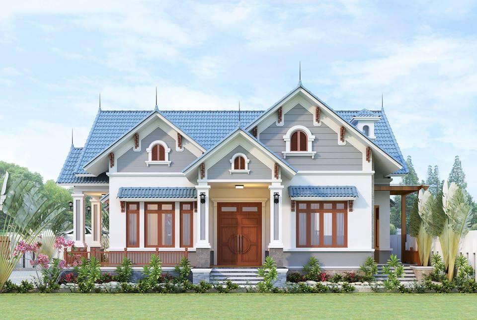 mẫu nhà mái thái 1 tầng đẹp 6