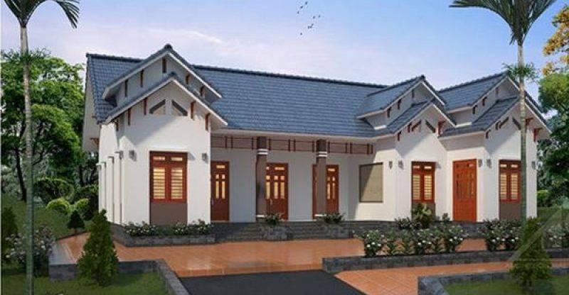 mẫu nhà mái thái 1 tầng đẹp 8