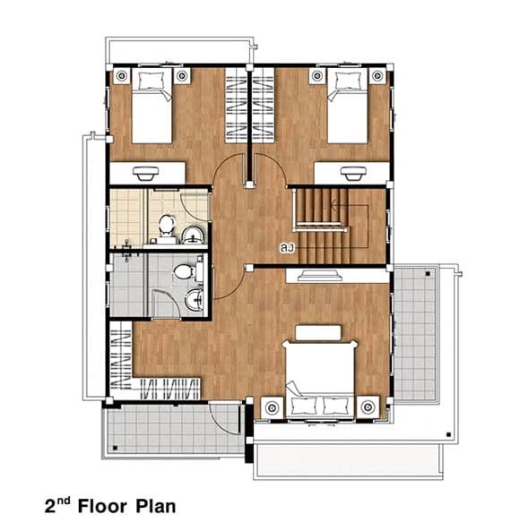 bản vẽ mặt bằng nhà 2 tầng diện tích 6x10 2