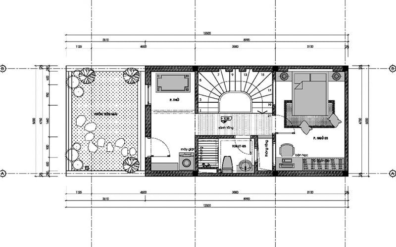 bản vẽ thiết kế nhà 3 tầng 6x10 3