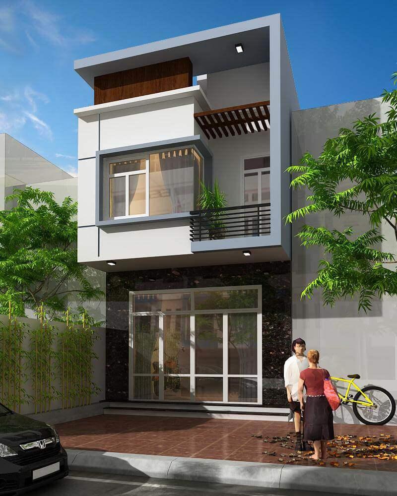 thiết kế nhà 2 tầng giá 400 triệu 1