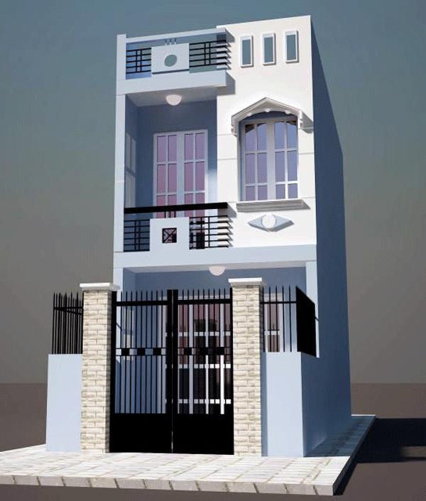 mẫu nhà ống 2 tầng đơn giản thiết kế hiện đại 2
