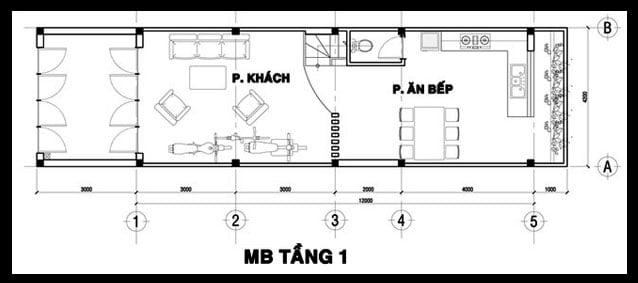 mẫu nhà ống đẹp 3 tầng 4m hiện đại 7