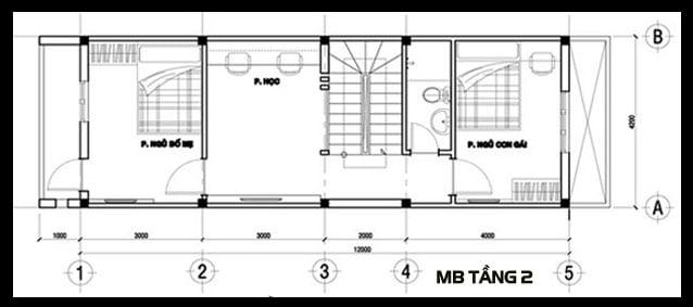 mẫu nhà ống đẹp 3 tầng 4m hiện đại 8