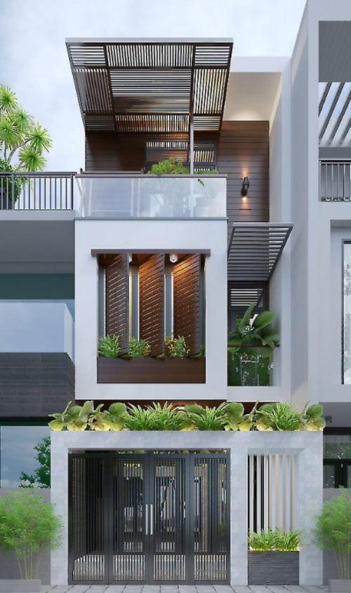mẫu nhàống đẹp 3 tầng 5m