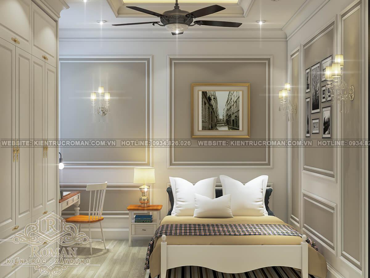 mẫu nhà ống tân cổ điển 3 tầng phòng ngủ
