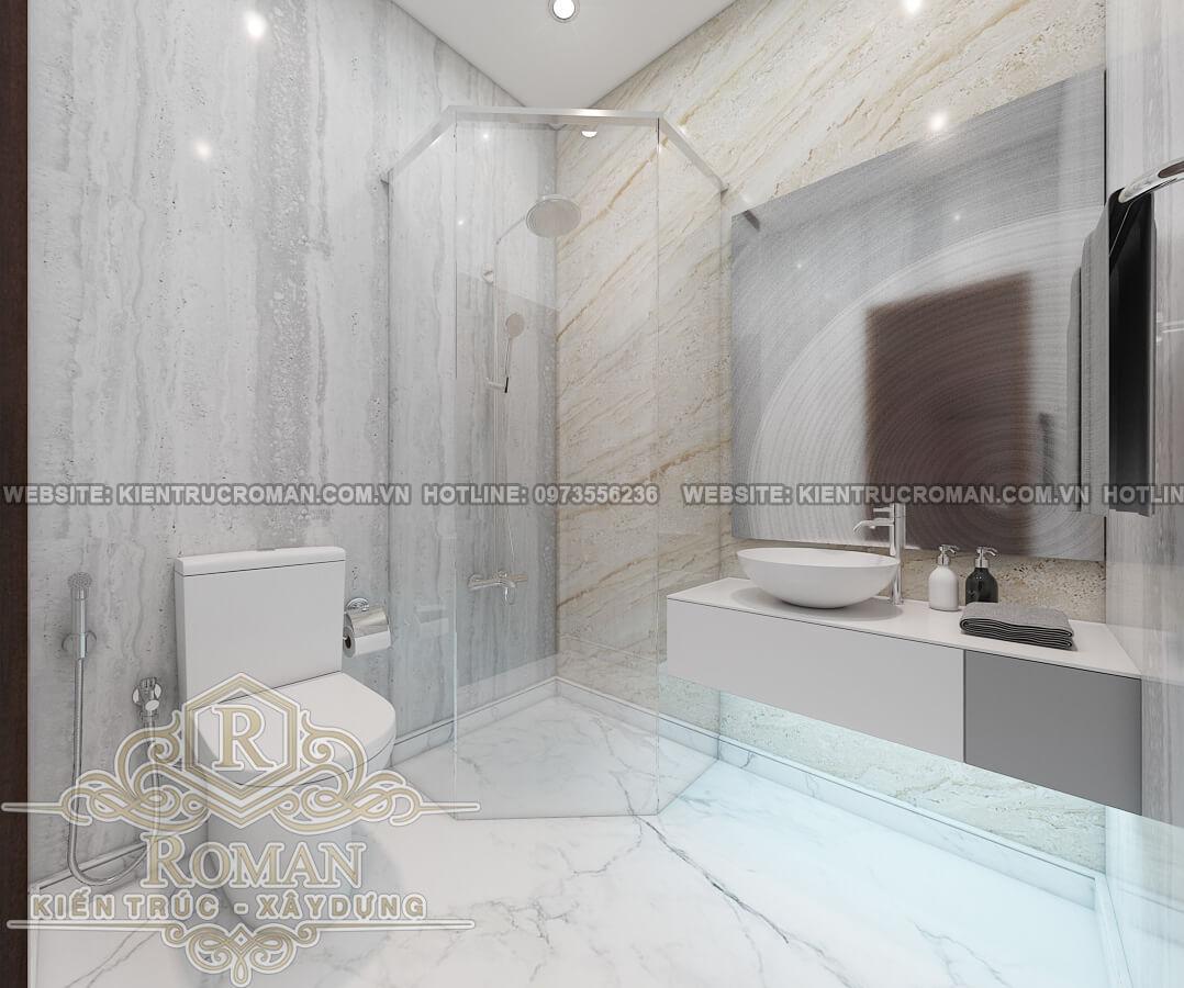 phòng tắm mẫu nhà ống tân cổ điển đẹp