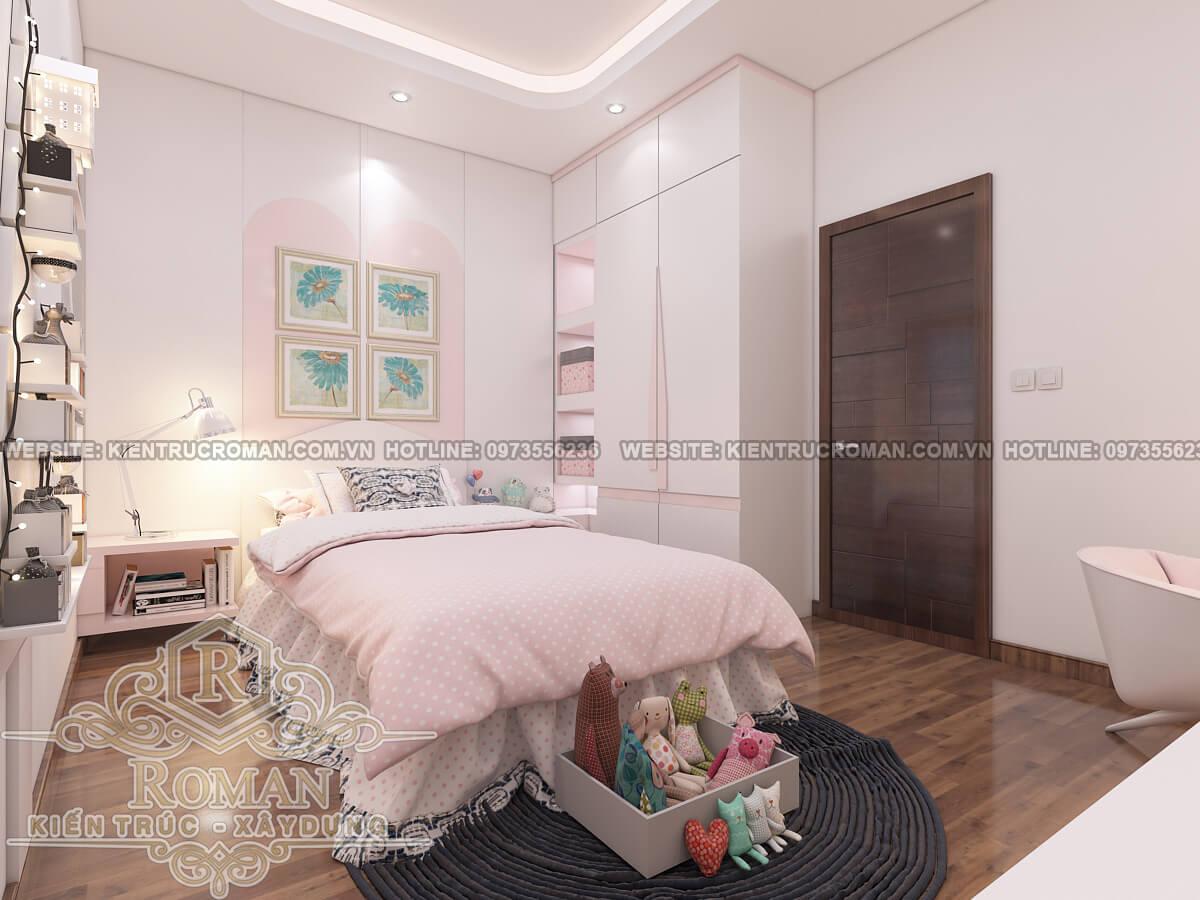 phòng ngủ của bé mẫu nhà ống tân cổ điển