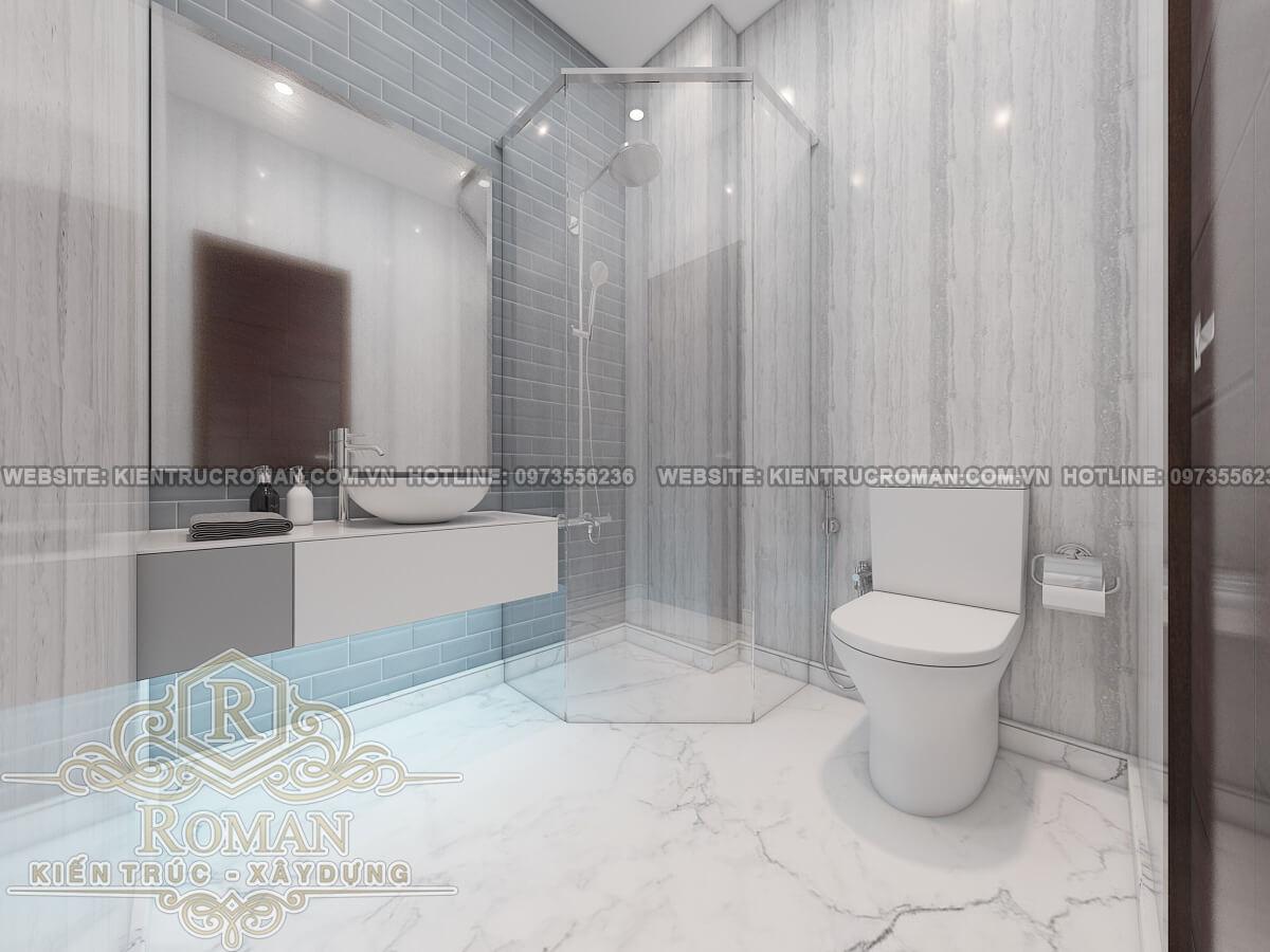 phòng tắm mẫu nhà ống tân cổ điển