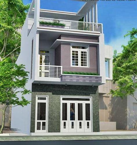 mẫu nhà phố 2 tầng 1 tum hiện đại 4