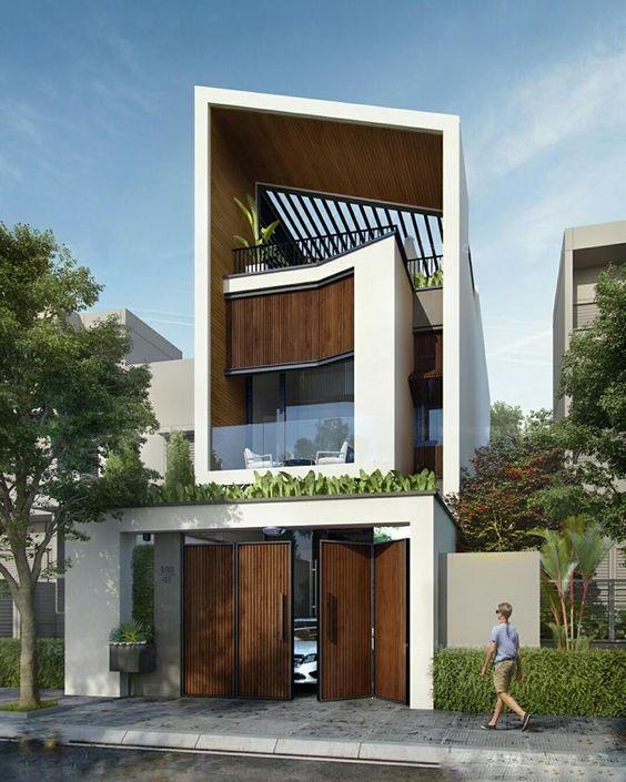 mẫu nhà phố 2 tầng 1 tum hiện đại 8