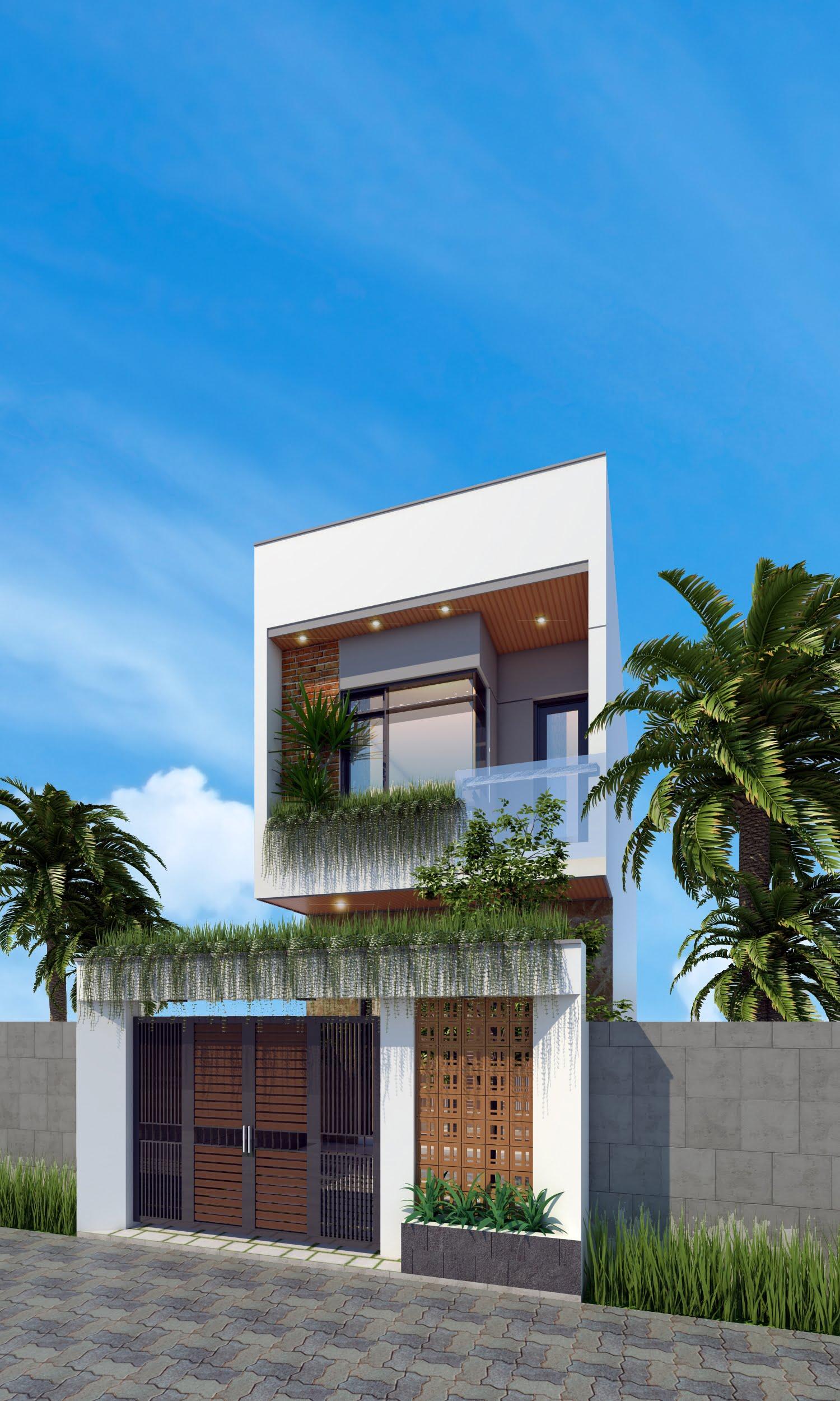 mẫu nhà phố 2 tầng 5x15 1