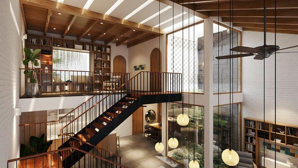 mẫu nhà phố 2 tầng hiện đại