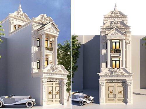 mẫu nhà phố 3 tầng 1 tum đẹp