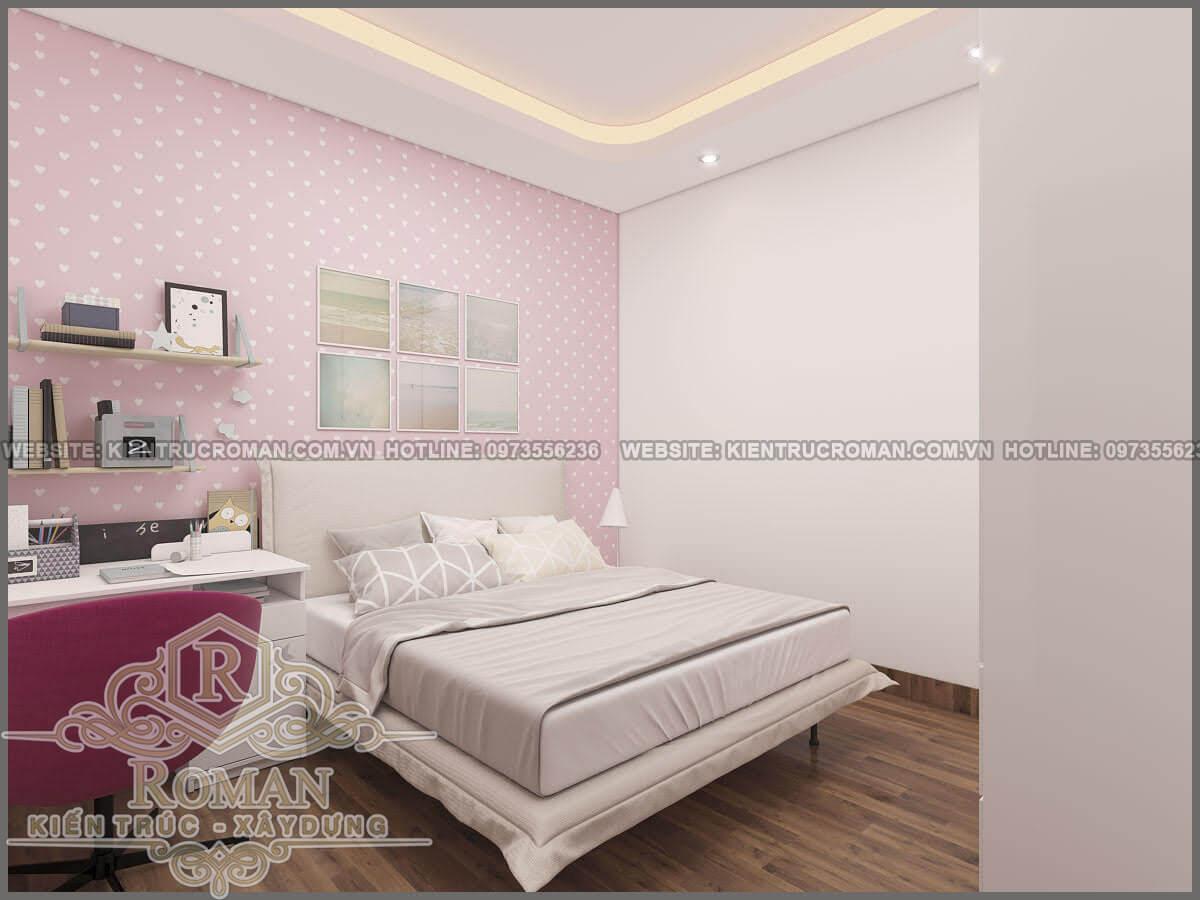 phòng ngủ mẫu nhà phố đẹp 3 tầng