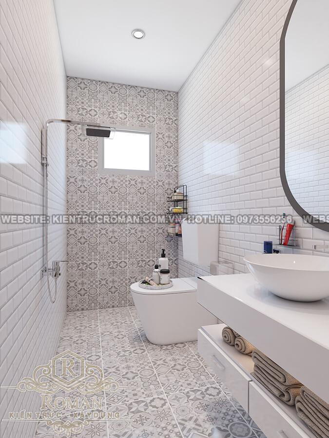 phòng tắm mẫu nhà phố đẹp 3 tầng