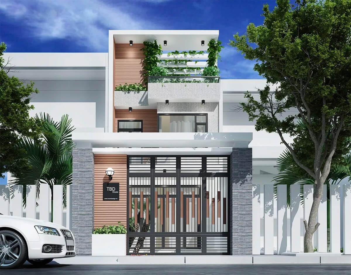thiết kế mẫu nhà phố 3 tầng hiện đại gần gũi với thiên nhiên 12