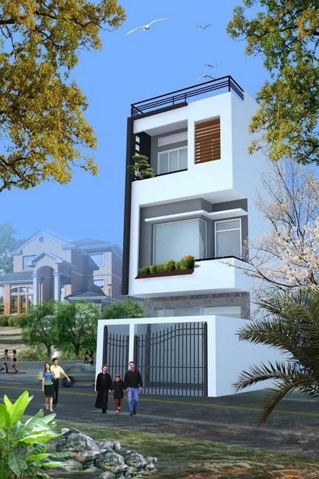 xu hướng mẫu nhà phố đẹp3 tầng đẹp thiết kế ấn tượng 1