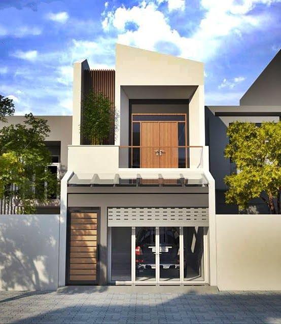 mặt tiền mẫu nhà phố 5x20m 2 tầng hiện đại