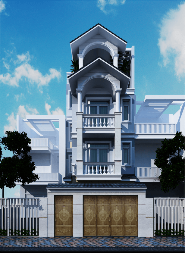 mẫu nhà phố bán cổ điển đẹp 10
