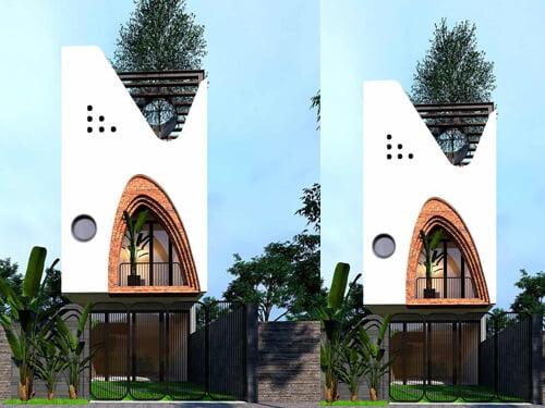 mẫu nhà phố đẹp 5x15m