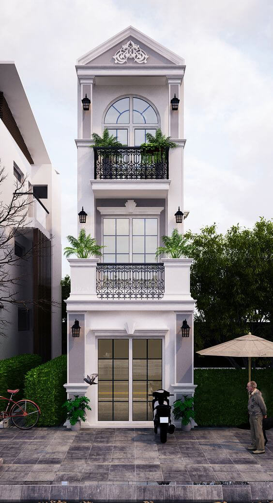 mẫu nhà phố mặt tiền 4m đẹp