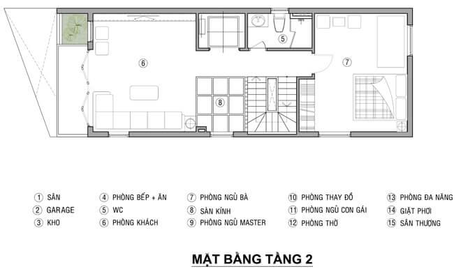 mẫu nhà phố mặt tiền 6m 4 tầng