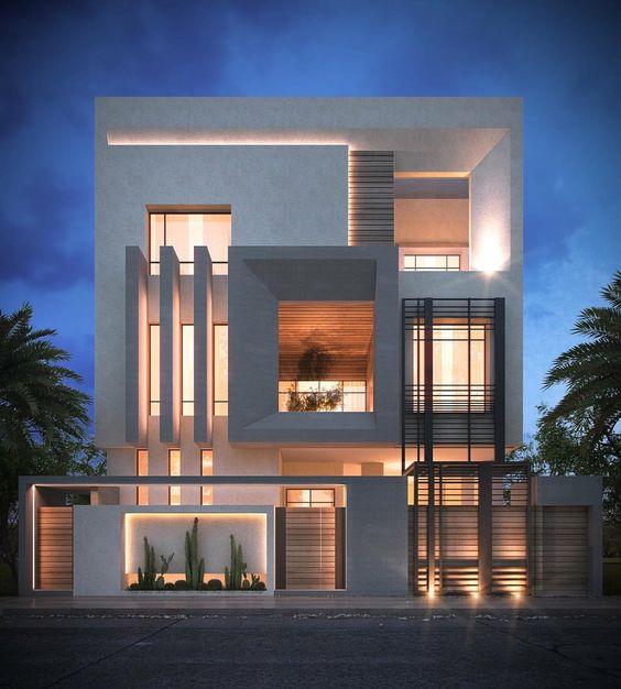 mẫu nhà phố mặt tiền rộng 8m 16