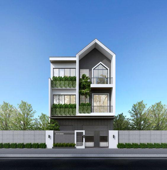 mẫu nhà phố mặt tiền rộng 8m 20