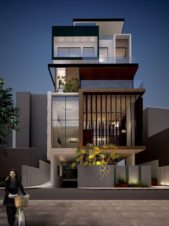 mẫu nhà phố mặt tiền rộng 8m 22