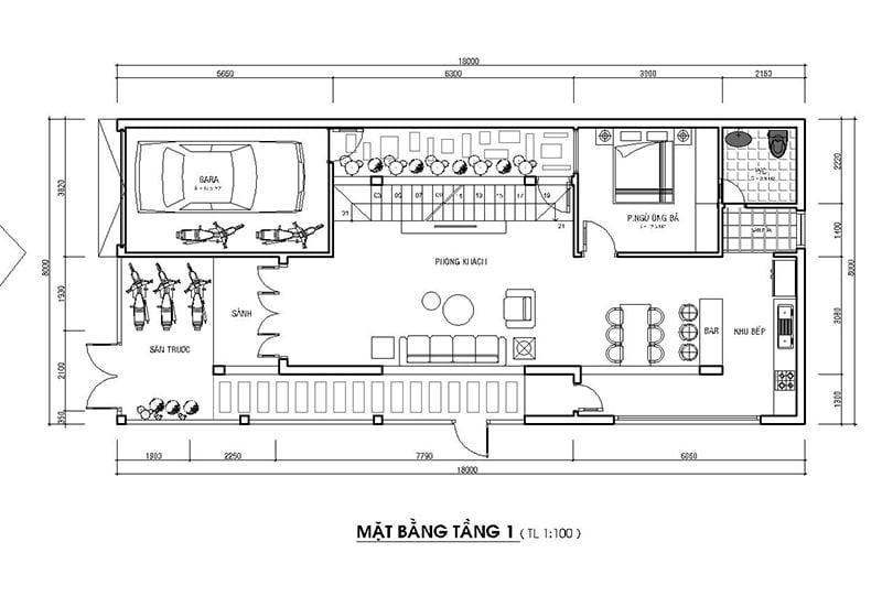 mẫu nhà phố mặt tiền rộng 8m 23