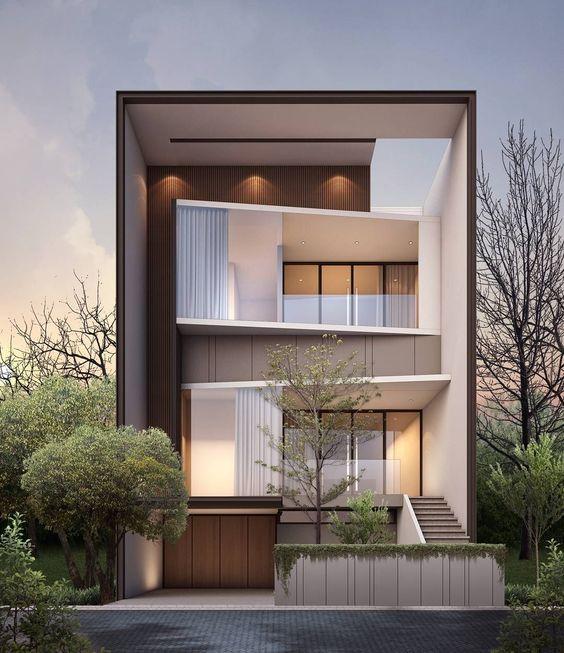 mẫu nhà phố mặt tiền rộng 8m 3