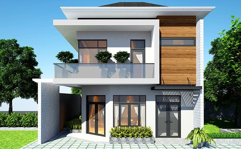 mẫu nhà phố mặt tiền rộng 8m 5