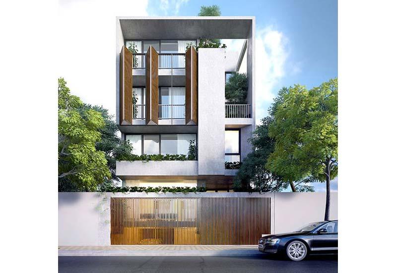 mẫu nhà phố mặt tiền rộng 8m 8