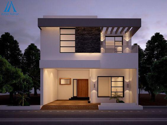 mẫu nhà phố mặt tiền 8m 2 tầng 1
