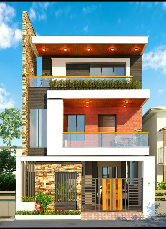 mẫu nhà phố mặt tiền 8m 2 tầng 14