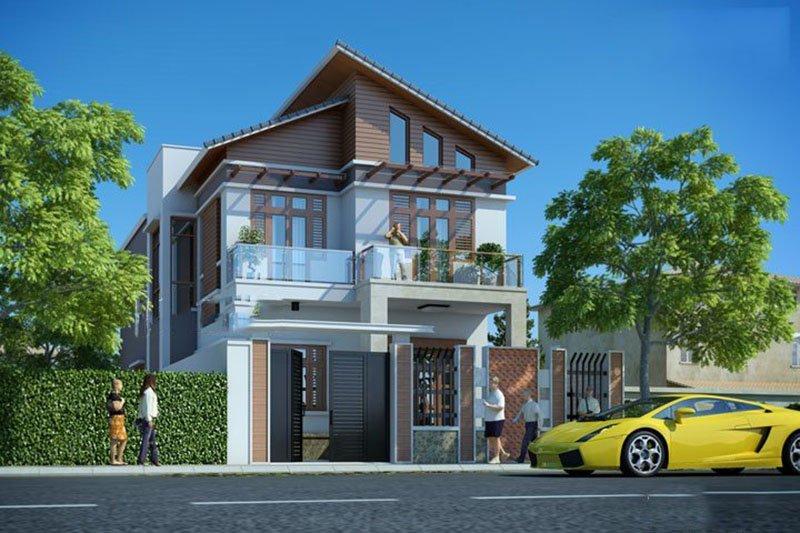 mẫu nhà phố mặt tiền 8m 2 tầng 15