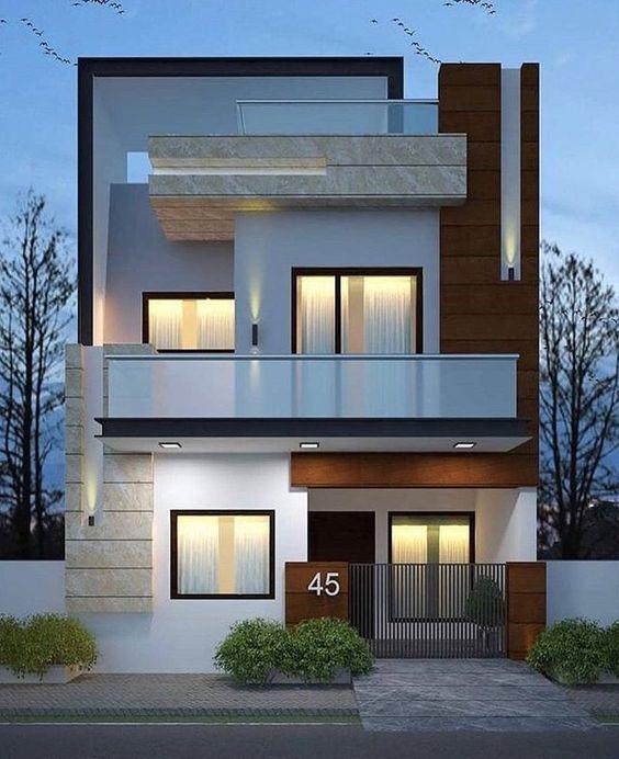 mẫu nhà phố mặt tiền 8m 2 tầng 2