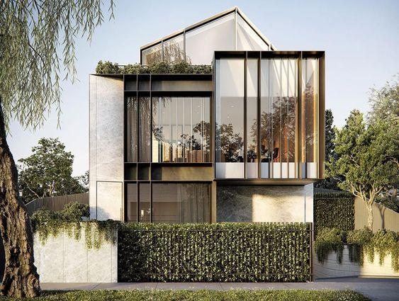 mẫu nhà phố mặt tiền 8m 2 tầng 21