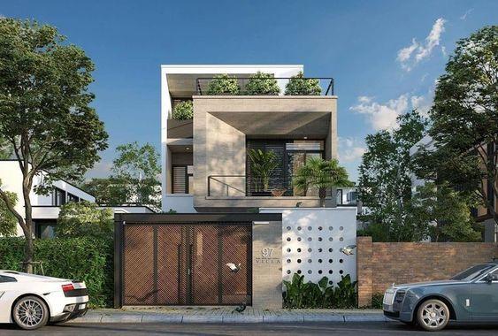 mẫu nhà phố mặt tiền 8m 2 tầng 22