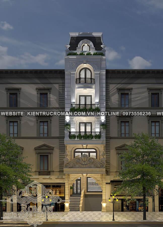 mặt tiền mẫu nhà phố tân cổ điển