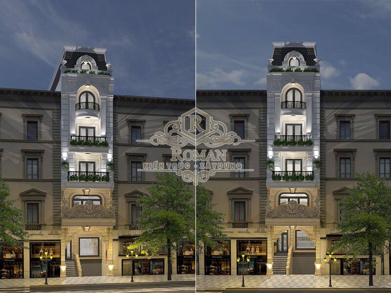 mẫu nhà phố tân cổ điển cao cấp tại quận gò vấp